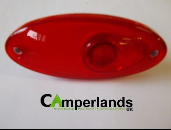 Hella Red Oval Flush Fit Marker Light