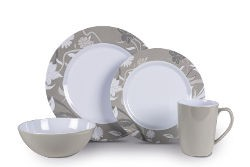 Kampa Bloom Heritage - 16 Piece Melamine Set