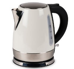 Kampa Cascade Stainless Steel Low Watt Kettle - Cream