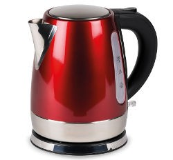 Kampa Cascade Stainless Steel Low Watt Kettle - Red