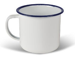 Kampa Enamel Mug 540ml - White
