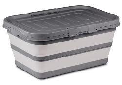 Kampa Large Collapsible Storage Box - Grey