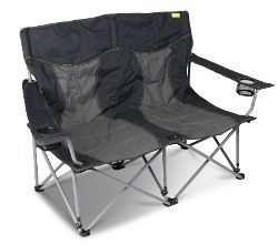 Kampa Lofa Double Chair - Charcoal
