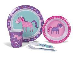 Kampa Childrens Melamine Set - Unicorns