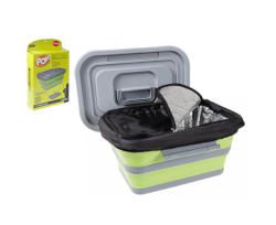 Pop! 18L Folding Cool Box Lime / Grey