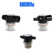 Shuflo fresh water strainer for Leisure vehicle pumps