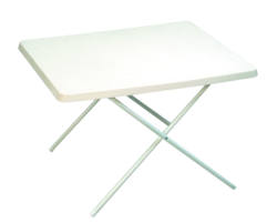 Sunnflair Small Plastic Camping Table White