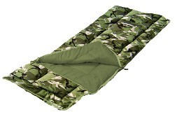 Sunncamp Camouflage Kids Sleeping Bag with Pillow