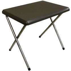 Sunnflair Small Plastic Camping Table Grey