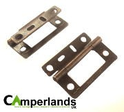 Cranked Flush Hinge 50mm - Brass