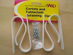 W4 Curtain and tablecloth retainer clips