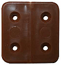 W4 Brown Plastic Hinge 44mm x 2