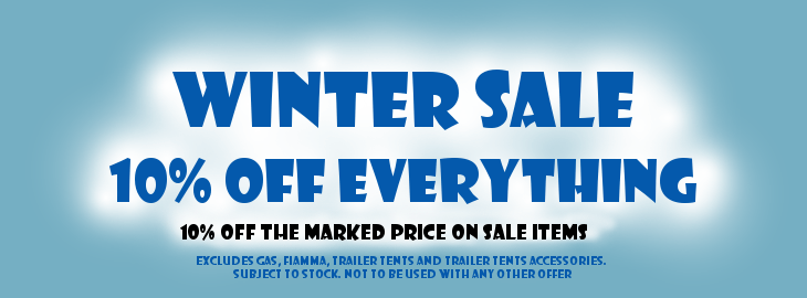 Camperlands Winter Sale - 10% Off marked prices