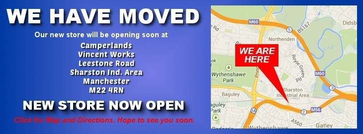 Click for Map and Direction to Camperlands new store in Sharston Manchester