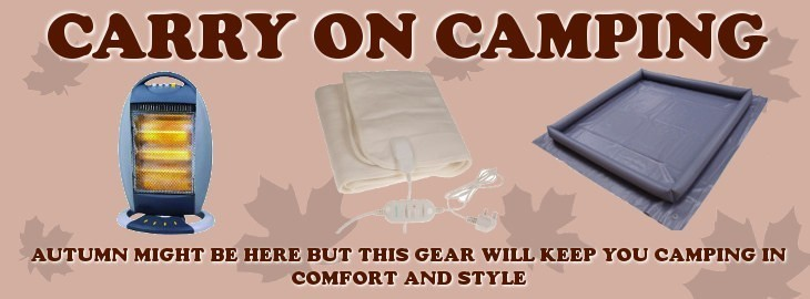 Click for our range of products to keep you Camping in Autumn