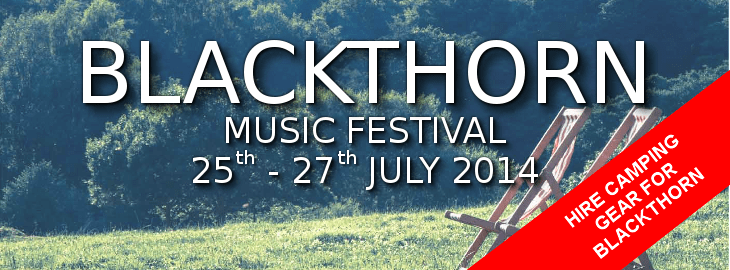 Hire Tents and Camping Equipment at Blackthorn Music Festival
