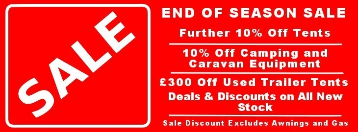 Camperlands End of Season Sale - Tents, Caravan Aceesories and Trailer Tents