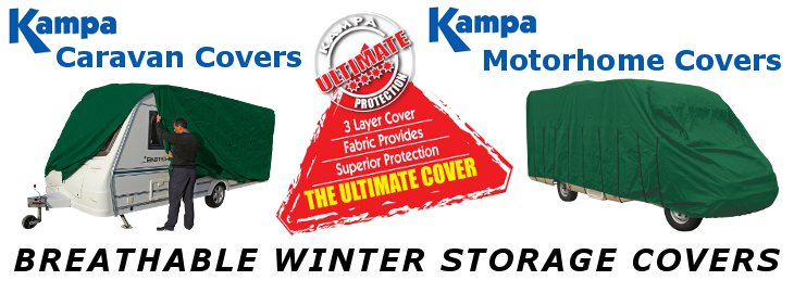 Breathable winter storage covers for Caravans and Motorhome