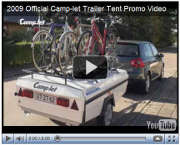Camp-let trailer tent pitching video