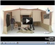 Trigano trailer tent pitching videos