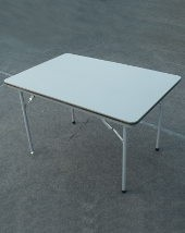 Camp-let Jumbo Camping table with plastic top and folding steel frame