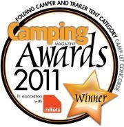 Camping magazine award winning trailer tent