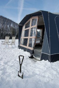 Plenty of snow and fine weather for a ski trip on the Camp-let winter challenge
