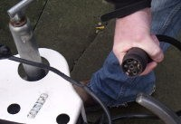 Check the plug and lead are in good repair before replacing bulbs