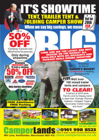 Camperlands Showtime sale with upto 50% savings