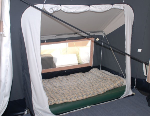 Use annex for sleeping to make a 3 bedroom trailer tent