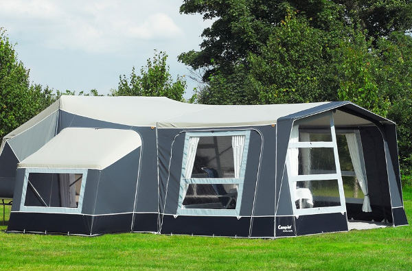 You can fit an extension awning and multiple annexes for additional storage and bed space