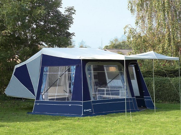 Standard sun canopy attached to 2 berth Camp-let