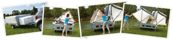 Simple 4 steps erecting process for cabin can be done by one person