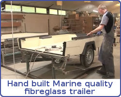 Fibreglass Trailer being made in the Camp-let factory