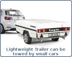 Lightweight Trailer can be towed by small hatchbacks and city cars