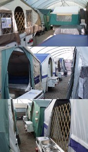 Extensive second hand Trailer Tent Display