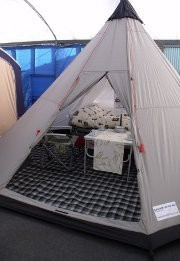 Tepee Trailer Tent on display at Camperlands