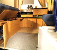Folding Camper Interior